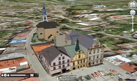3D provedení - město