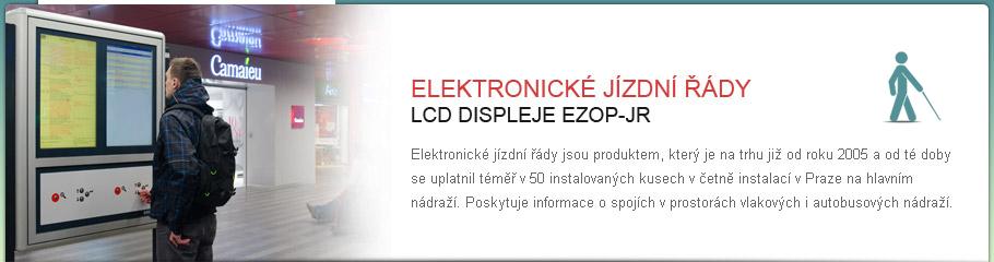 LCD displej - EZOP-JR - Elektronické jízdní řády