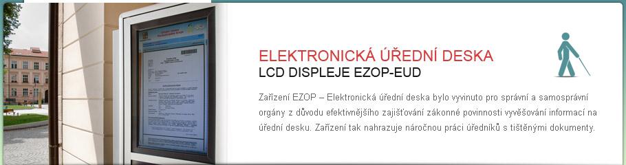 LCD displej - EZOP - EUD Elektronická úřední deska