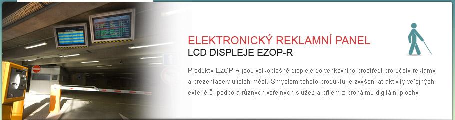 LCD displej - EZOP-R - Venkovní reklamní displej