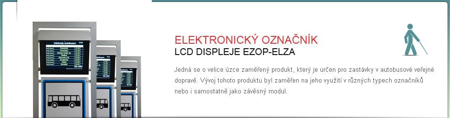 LCD displej - EZOP - ELZA Elektronický označník